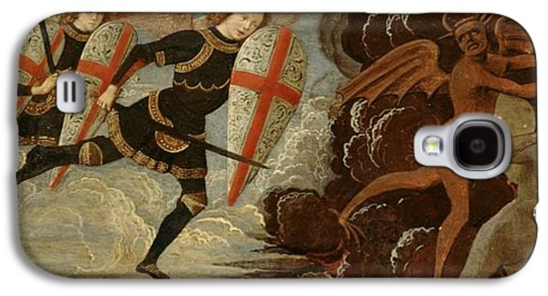 St. Michael And The Angels At War With The Devil Galaxy S4 Case by Domenico Ghirlandaio