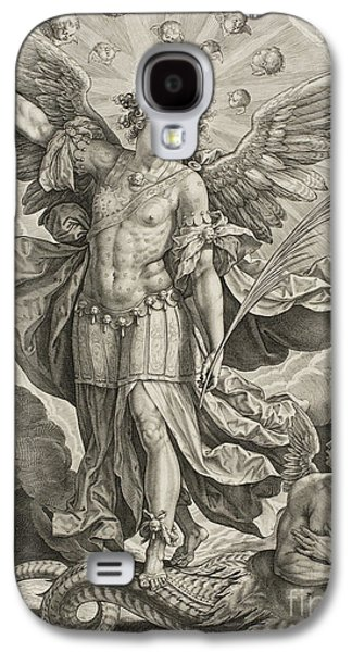 St Michael Triumphing Over The Dragon Galaxy S4 Case by Hieronymus or Jerome Wierix