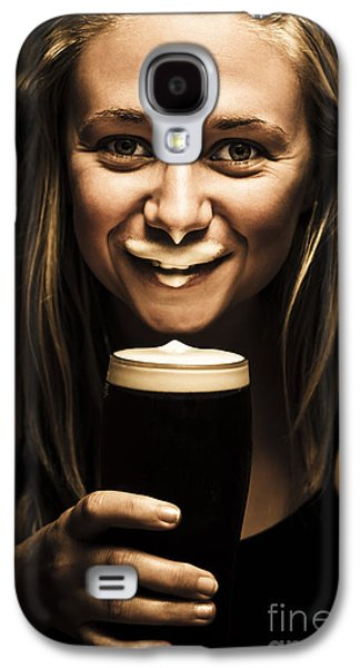 St Patricks Day Woman Imitating An Irish Man Galaxy S4 Case