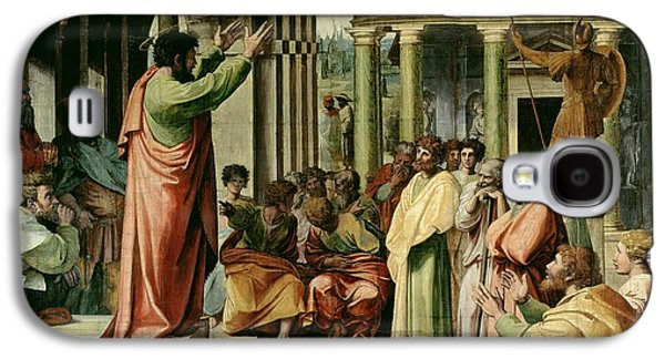 St. Paul Preaching At Athens  Galaxy S4 Case by Raphael