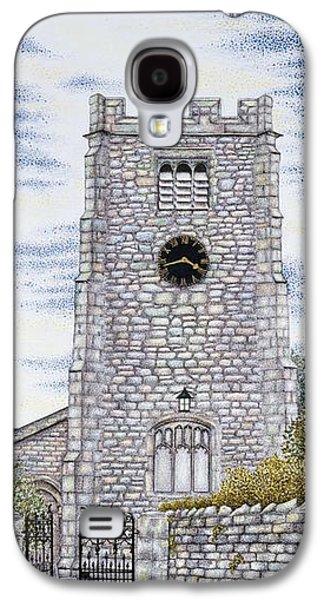St Paul's Church Clock Galaxy S4 Case by Sandra Moore