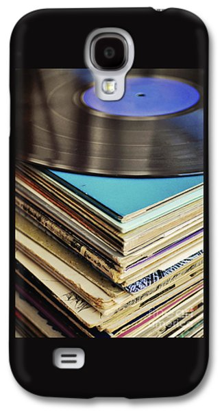 Stack Of Records Galaxy S4 Case by Lyn Randle