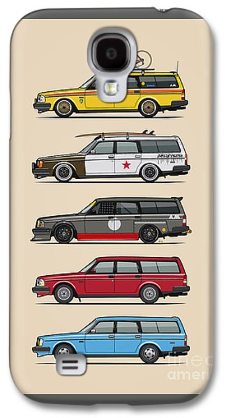 Stack Of Volvo 200 Series 245 Wagons Galaxy S4 Case by Monkey Crisis On Mars