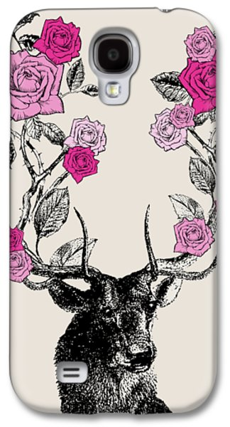 Stag And Roses Galaxy S4 Case