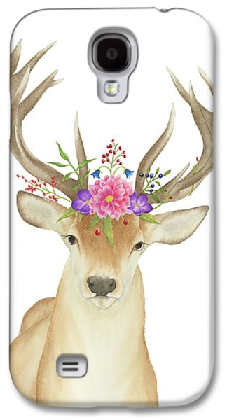 Stag Watercolor  Galaxy S4 Case by Taylan Apukovska