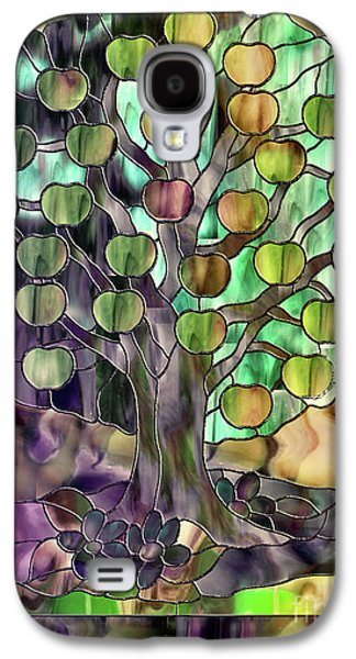 Stained Glass Apple Tree Galaxy S4 Case by Mindy Sommers