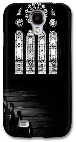 Stained Glass In Black And White Galaxy S4 Case by Tom Mc Nemar
