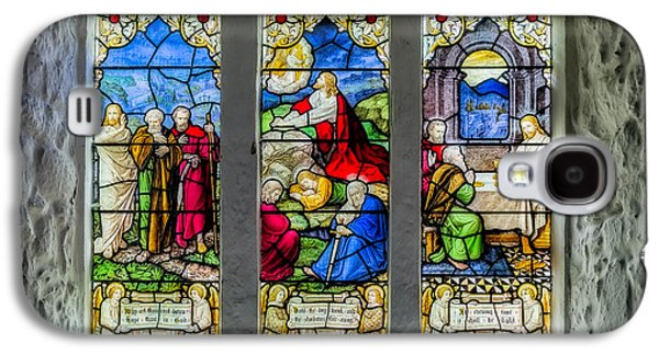Stained Glass Triptych Galaxy S4 Case by Adrian Evans