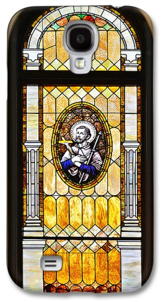 Stained Glass Window Father Antonio Ubach Galaxy S4 Case by Christine Till