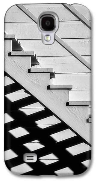 Stairs In Black And White Galaxy S4 Case by Garry Gay