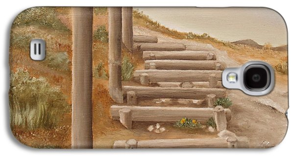 Stairway From The Beach Galaxy S4 Case by Angeles M Pomata