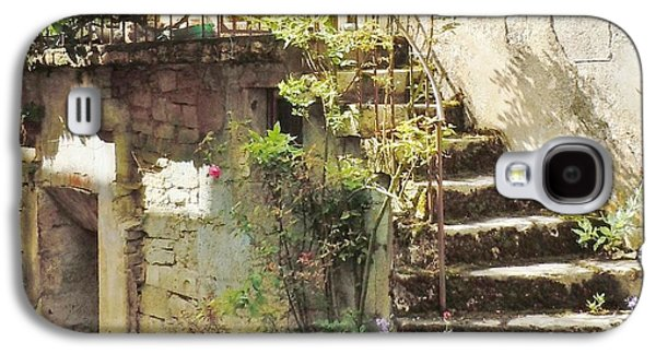 Stairway With Flowers Flavigny France Galaxy S4 Case by Marilyn Dunlap