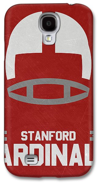 Stanford Galaxy S4 Case - Stanford Cardinals Vintage Football Art by Joe Hamilton