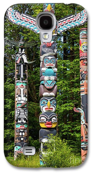 Stanley Park Totems Galaxy S4 Case by Inge Johnsson