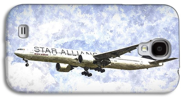 Star Alliance Boeing 777 Art Galaxy S4 Case by David Pyatt
