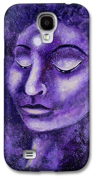 Star Buddha Of Purple Patience Galaxy S4 Case by Laura Iverson