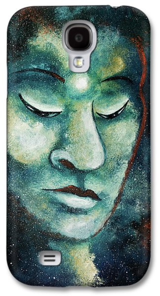 Star Buddha Of Teal Tranquility Galaxy S4 Case by Laura Iverson