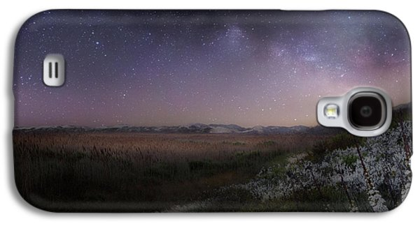 Galaxy S4 Case featuring the photograph Star Flowers Square by Bill Wakeley