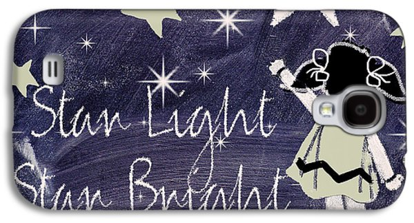 Star Light Star Bright Chalk Board Nursery Rhyme Galaxy S4 Case by Mindy Sommers