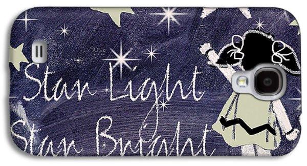 Star Light Star Bright Chalk Board Nursery Rhyme Galaxy S4 Case by Mindy Sommers