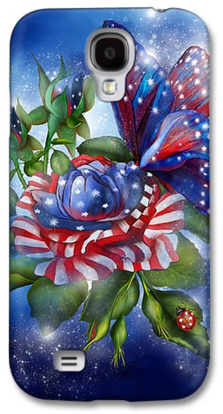 Star Spangled Butterfly Galaxy S4 Case by Carol Cavalaris