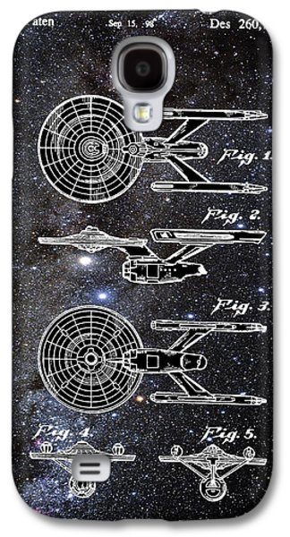 Star Trek Enterprise Patent Space Galaxy S4 Case by Bill Cannon