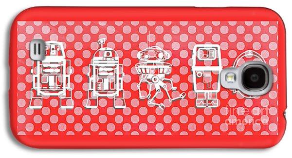 Star Wars Droids Mug Galaxy S4 Case by Edward Fielding