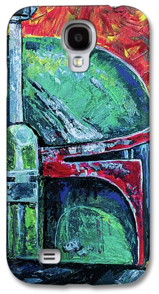 Galaxy S4 Case featuring the painting Star Wars Helmet Series - Boba Fett by Aaron Spong