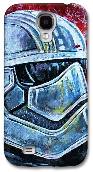Galaxy S4 Case featuring the painting Star Wars Helmet Series - Captain Phasma by Aaron Spong