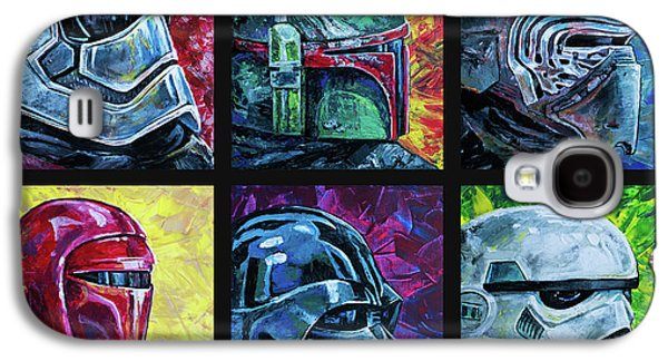 Galaxy S4 Case featuring the painting Star Wars Helmet Series - Collage by Aaron Spong