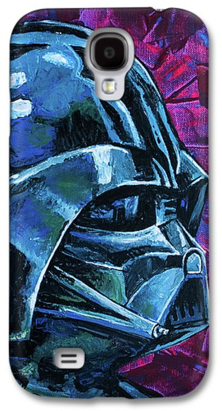 Galaxy S4 Case featuring the painting Star Wars Helmet Series - Darth Vader by Aaron Spong