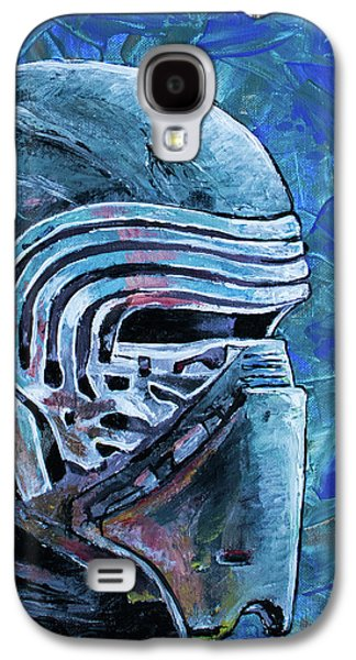 Galaxy S4 Case featuring the painting Star Wars Helmet Series - Kylo Ren by Aaron Spong
