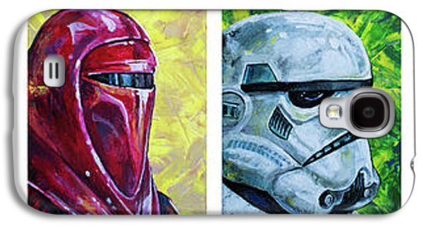 Galaxy S4 Case featuring the painting Star Wars Helmet Series - Panorama by Aaron Spong