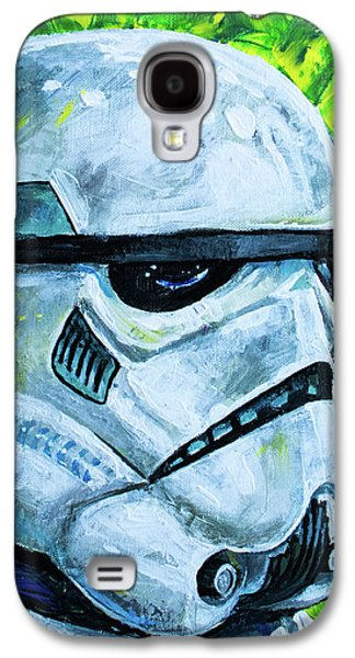 Galaxy S4 Case featuring the painting Star Wars Helmet Series - Storm Trooper by Aaron Spong