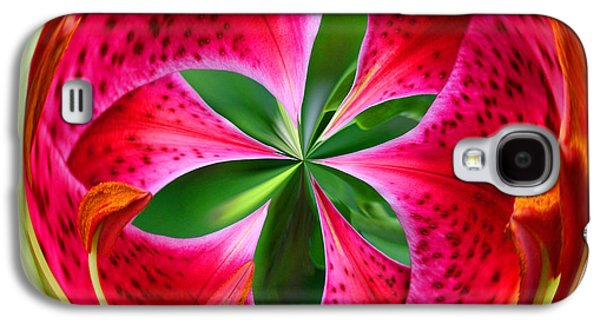 Galaxy S4 Case featuring the photograph Stargazer Lily Orb by Bill Barber
