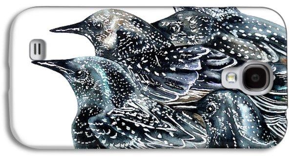 Starlings Galaxy S4 Case by Marie Burke