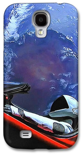 Starman In Tesla With Planet Earth Galaxy S4 Case