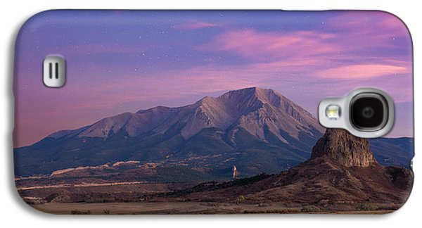 Galaxy S4 Case featuring the photograph Starry Sunset Over West Spanish Peak by Aaron Spong