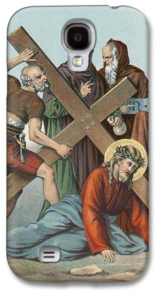 Station Ix Jesus Falls Under The Cross The Third Time Galaxy S4 Case by English School
