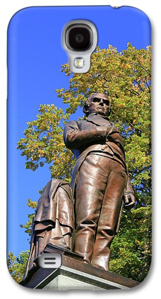 Statue Of Daniel Webster - Central Park # 2 Galaxy S4 Case by Allen Beatty