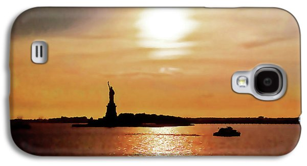 Statue Of Liberty At Sunset Galaxy S4 Case
