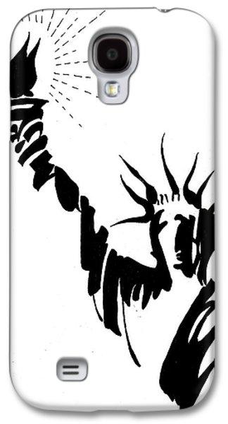 Statue Of Liberty Galaxy S4 Case by Farah Faizal