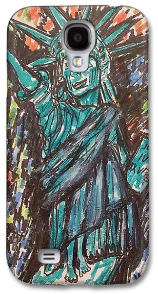 Statue Of Liberty Galaxy S4 Case by Geraldine Myszenski