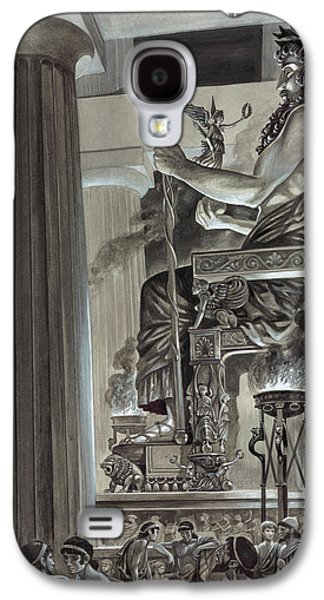 Statue Of Zeus At Olympia Galaxy S4 Case by Peter Jackson