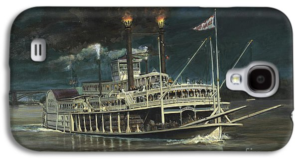 Steamboat On Mississippi Galaxy S4 Case by Don Langeneckert