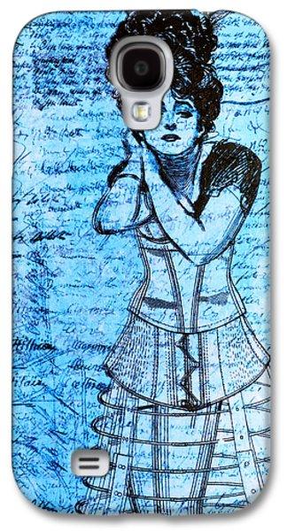 Steampunk Girls In Blues Galaxy S4 Case by Nikki Marie Smith