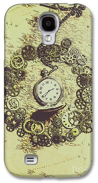 Machinery Galaxy S4 Case - Steampunk Travel Map by Jorgo Photography - Wall Art Gallery