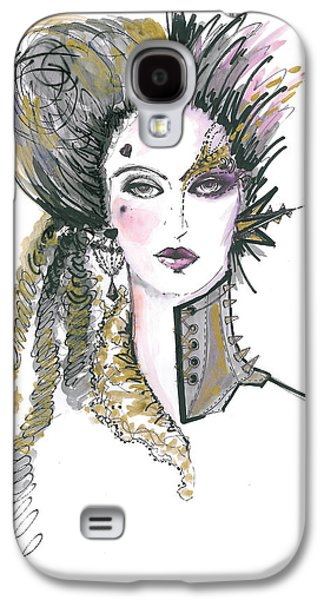 Steampunk Watercolor Fashion Illustration Galaxy S4 Case by Marian Voicu
