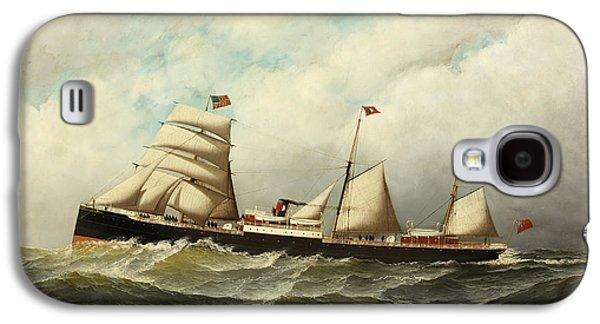 Steamship   Cornwall Galaxy S4 Case by Antonio Jacobsen
