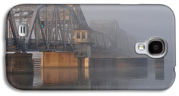 Steel Photographs Galaxy S4 Cases - Steel Bridge in Fog Galaxy S4 Case by Tim Nyberg